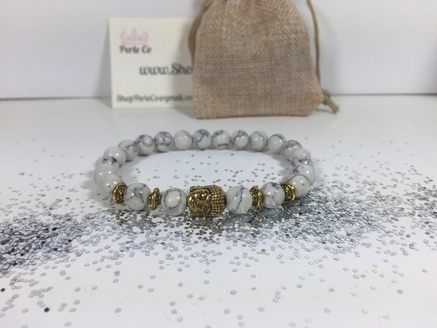 Image of Buddha Bracelet White/Gold