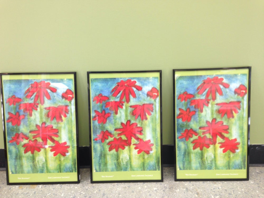 "Image of Red bouquet framed Print 11""x17"""