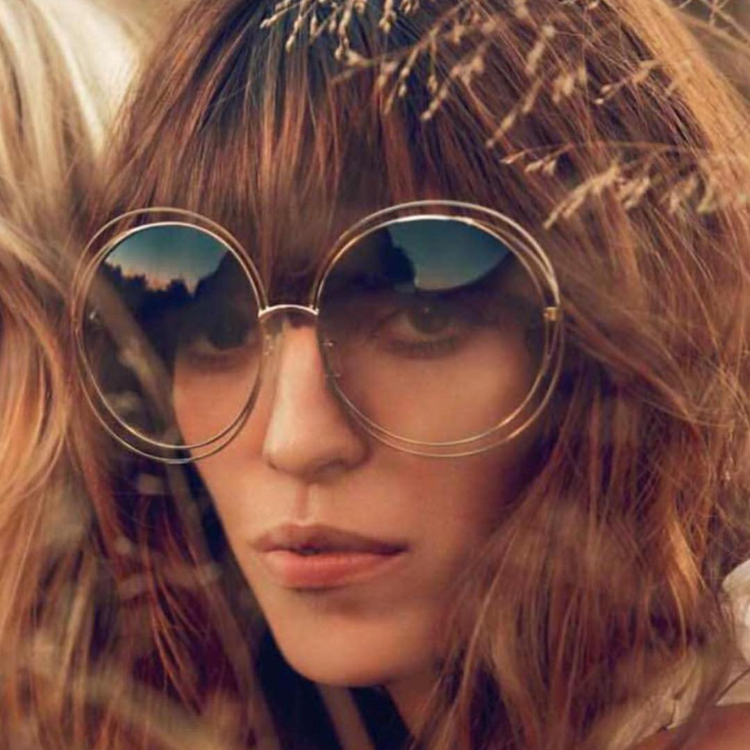 Image of Round Wire Frame Sunglasses