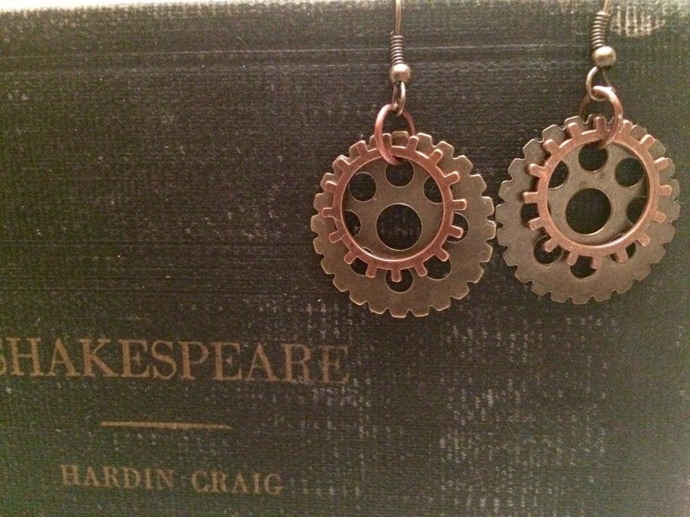 Image of Yoga Gypsy Creations ~ Gear Earrings