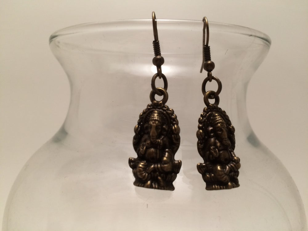 Image of Yoga Gypsy Creations ~ Ganesh earrings