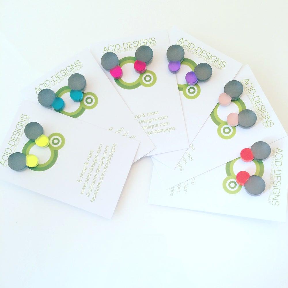 Image of Náušnice / Earrings Bubbles Grey n color