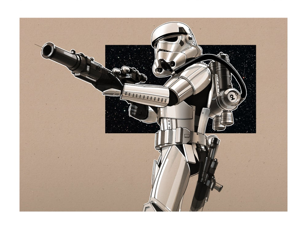 "Image of Stormtroopers -  8 1/2"" x 11"" OPEN EDITION COLLECTIBLE Giclée PRINTS"