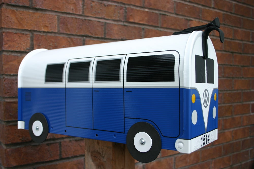 Thebusbox deep blue 11 window volkswagen bus mailbox by for 11 window vw bus