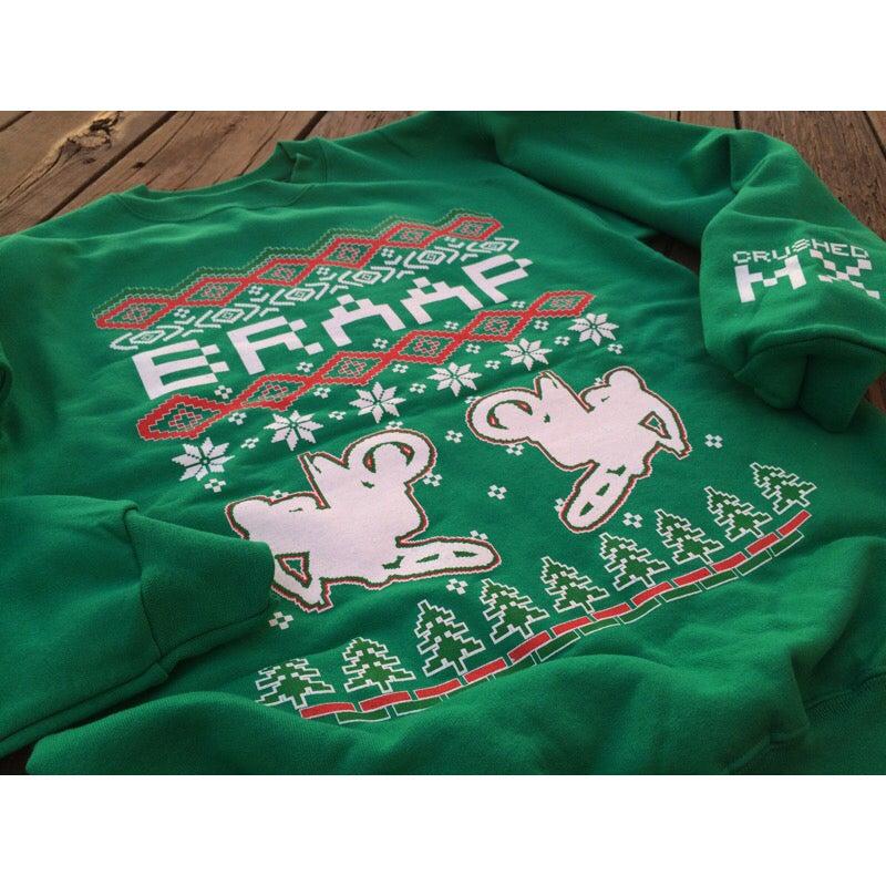 Image of Kelly Green Braap Ugly Christmas Sweatshirt