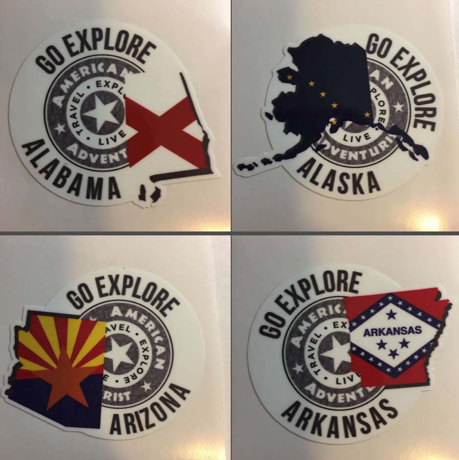 Image of AAV State Decals (A-G)