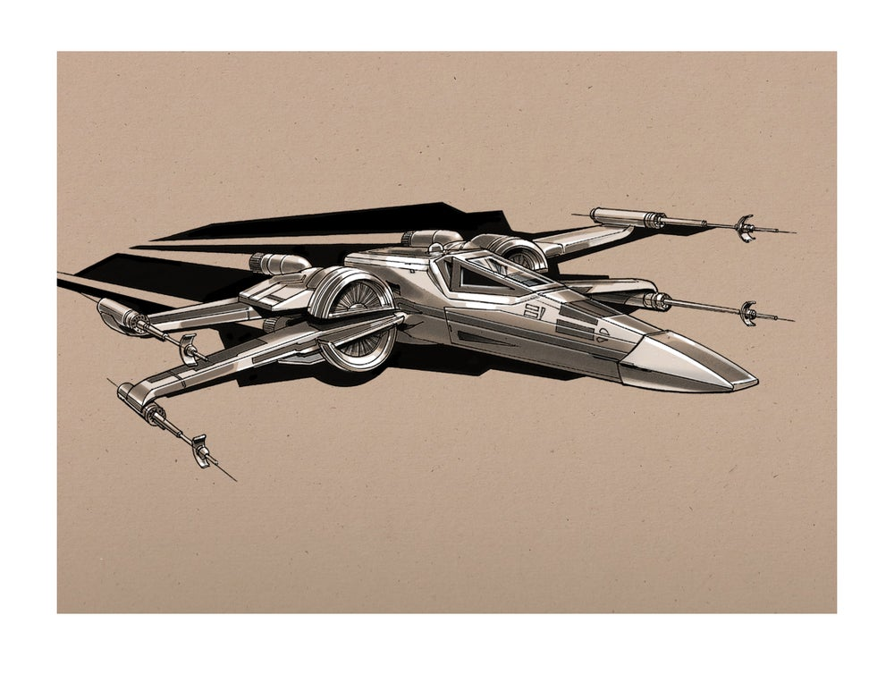 "Image of The Force Awakens Sketches 1: 8 1/2"" x 11"" OPEN EDITION COLLECTIBLE Giclée PRINTS"