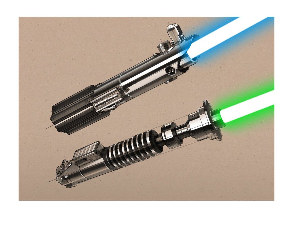 """Image of Original Trilogy Sketches: 8 1/2"""" x 11"""" OPEN EDITION COLLECTIBLE Giclée PRINT"""