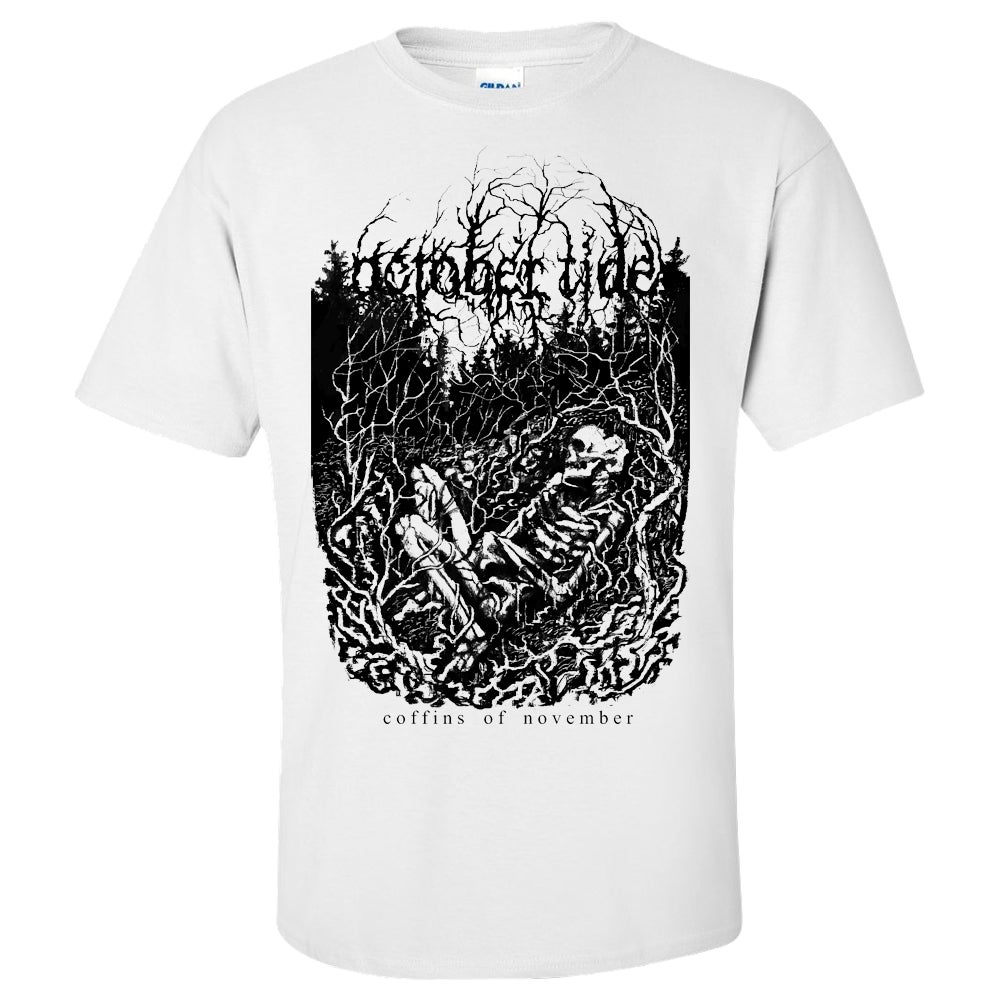 Image of Coffins Of November T-shirt (WHITE)