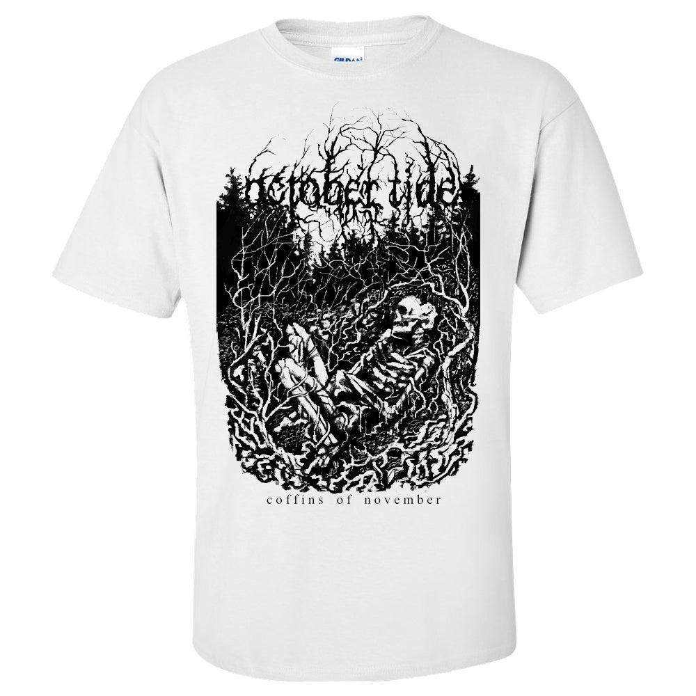 Image of Coffins Of November T-shirt (WHITE)