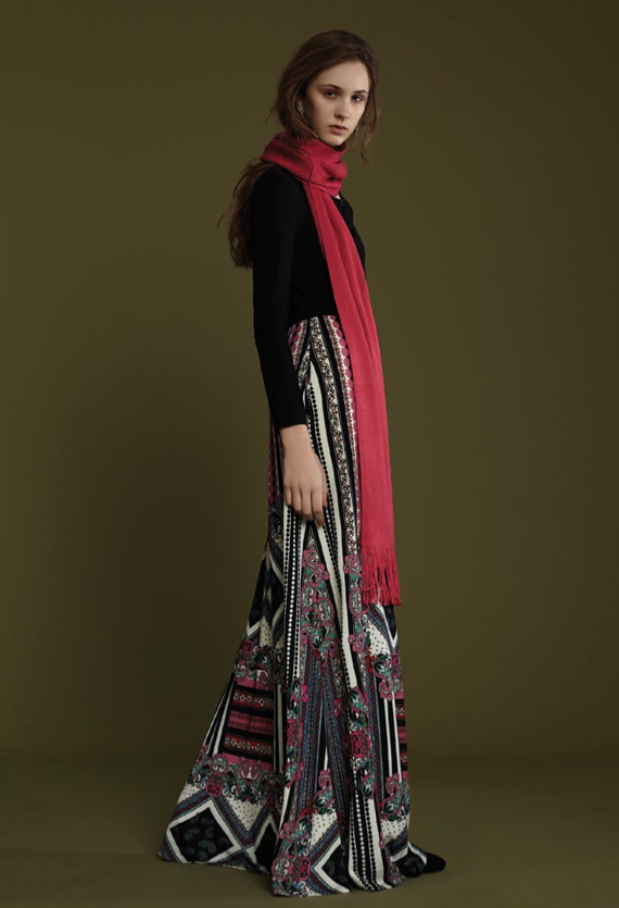 Image of FRAMPESCA WOOL PRINTED DRESS