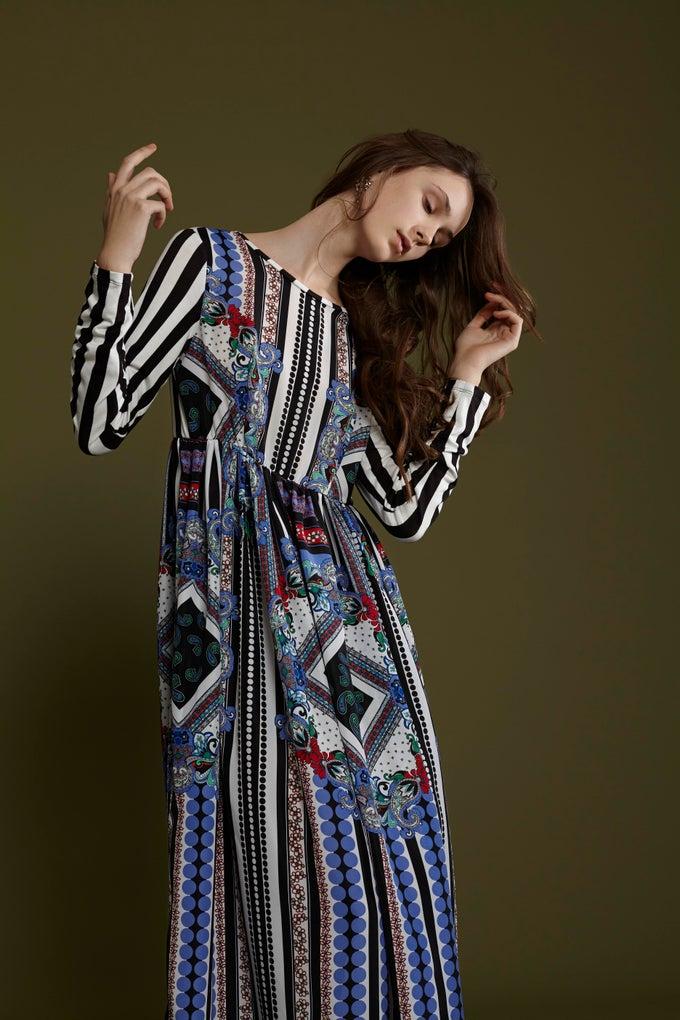 Image of FRAMPESCA ICONIC GRAND BUDAPEST MAXI DRESS