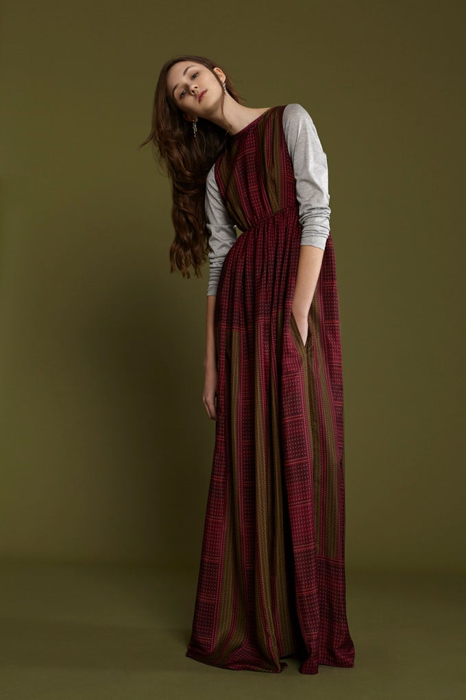 Image of FRAMPESCA ICONIC BORCHIETTE MAXI DRESS