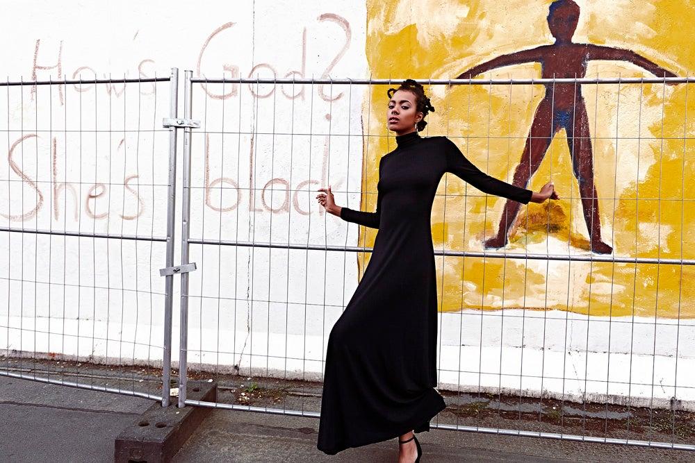 Image of FRAMPESCA TURTLENECK MAXI DRESS