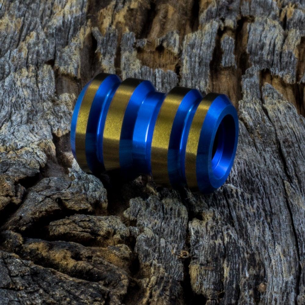 Image of Tank Blue & Bronze Ti Bead #1