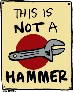 "Image of ""This Is Not A Hammer"" Mini-Poster"