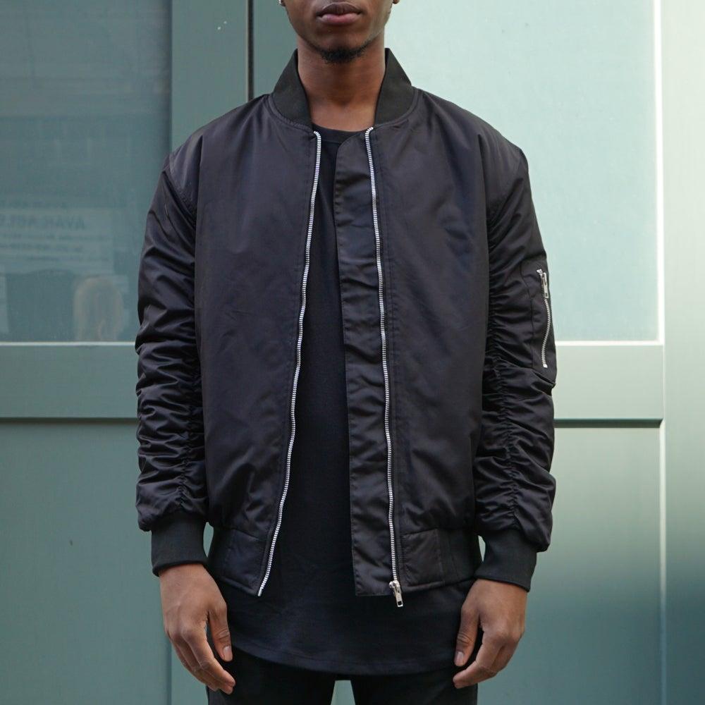 Image of Black Bomber Jacket
