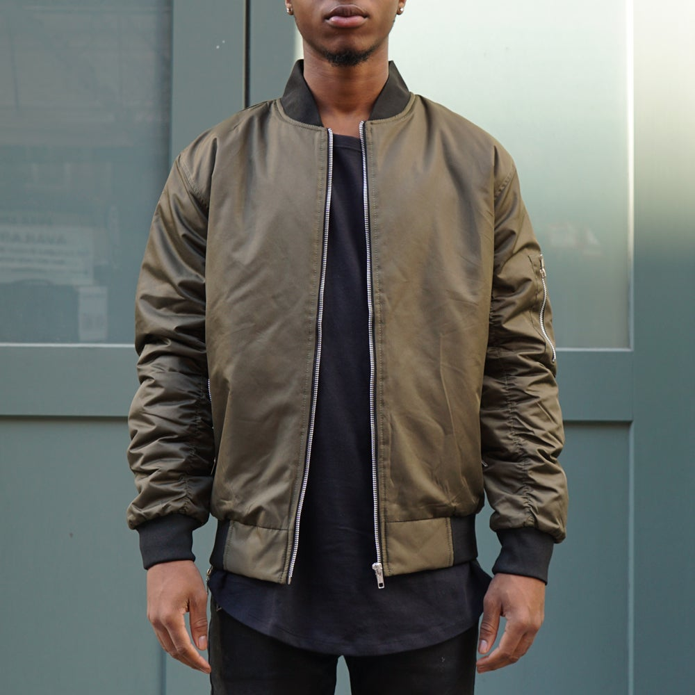 Image of Olive Bomber Jacket