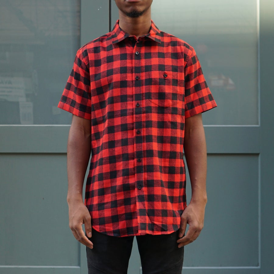 Image of Short Sleeve Flannel