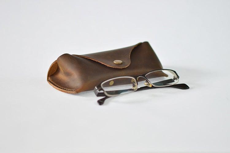Image of Handmade Genuine Natrual Leather Sunglasses Holder, Glasses Case, Sunglasses Organizer F01