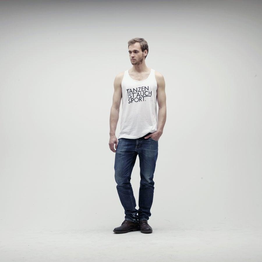 Image of Tanzen Ist Auch Sport / White Tanktop (Unisex)