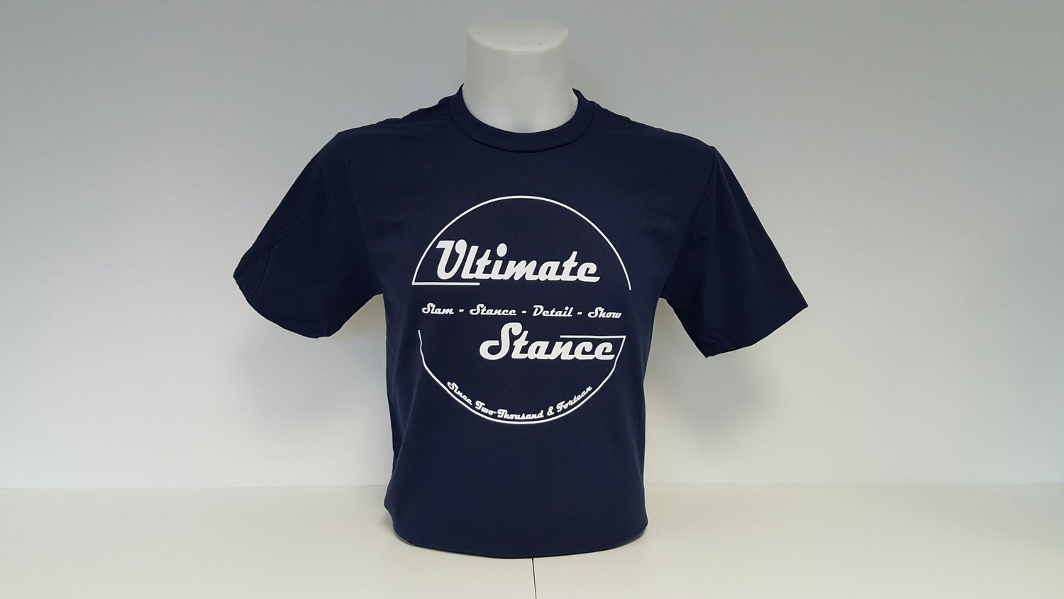 Image of Men's Ultimate Stance T-Shirt - Navy with White Logo