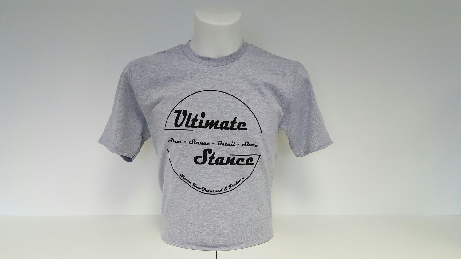 Image of Men's Ultimate Stance T-Shirt - Sports Grey with Black Logo