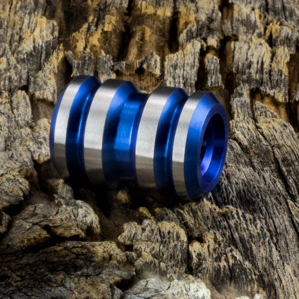 Image of Tank Electric Blue Ti Bead #1