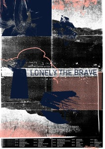 Image of Lonely the Brave - Things Will Matter UK Tour Poster