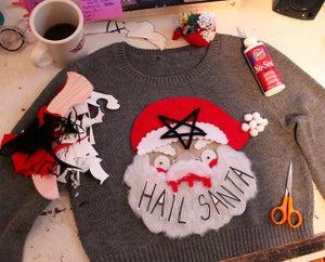 Image of Handsewn Hail Santa Knit Sweater