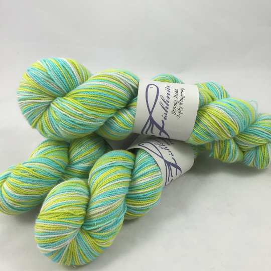 Image of Vivarium: Superwash Strong Heart, Boot Strap BFL, or sparkly Panache Self Striping Sock Yarn