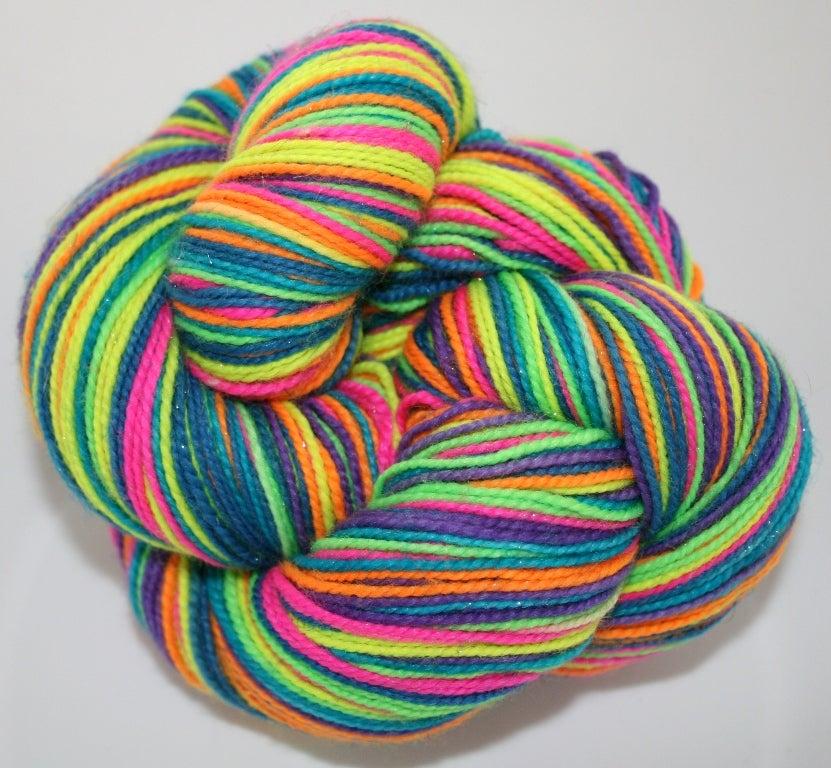 Image of NEON: Superwash Self Striping Sock Yarn