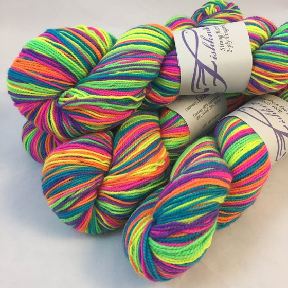 Image of NEON: Superwash Self Striping Sock Yarn