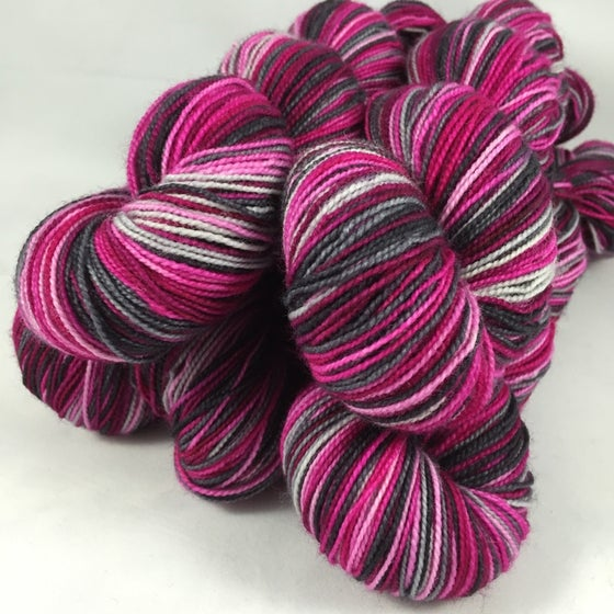 Image of Count the Ways: Superwash Strong Heart or sparkly Panache Self Striping Sock Yarn