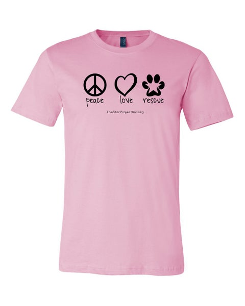 Image of Peace, Love, Rescue - Pink