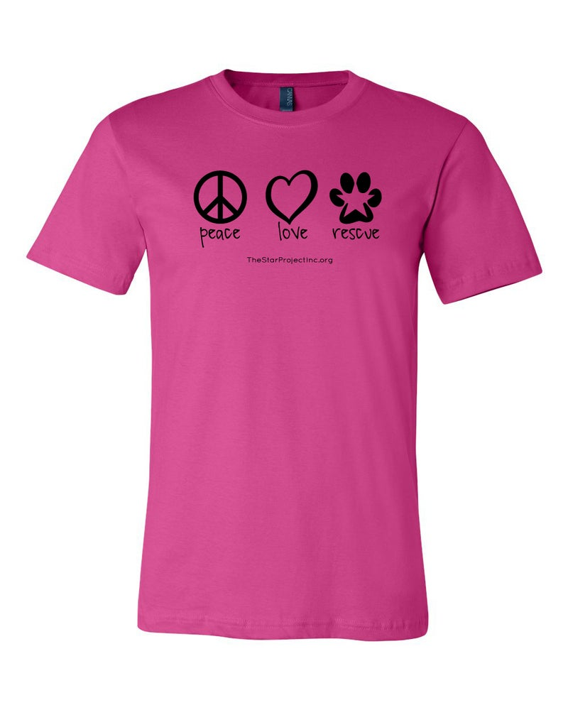 Image of Peace, Love, Rescue - Berry