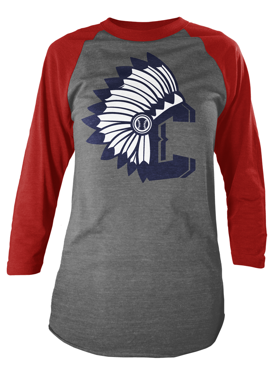 Ilovecle indians c red raglan for Cleveland t shirt printing