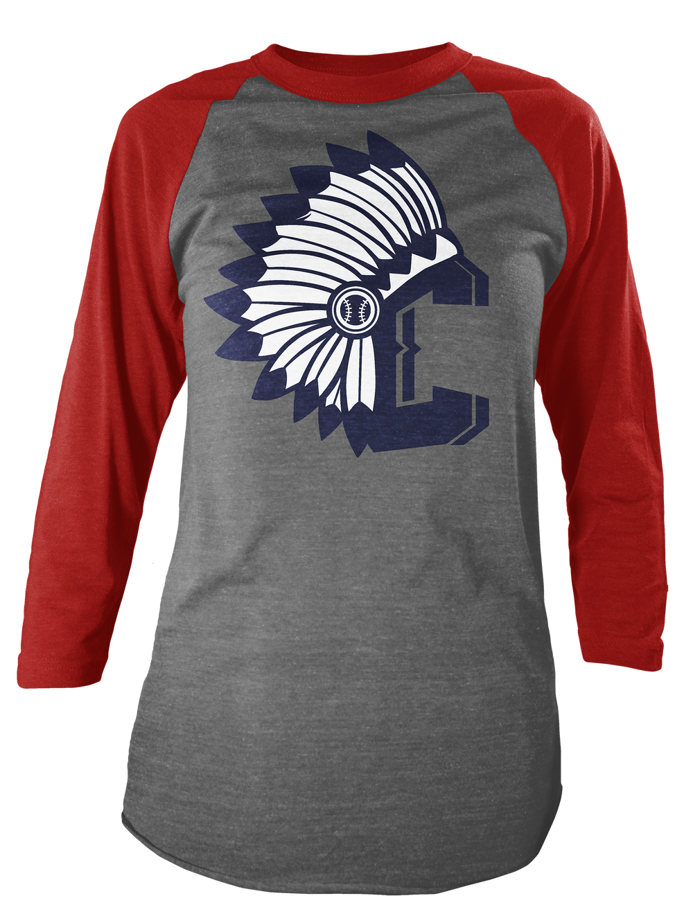 Image of Indians C Red Raglan