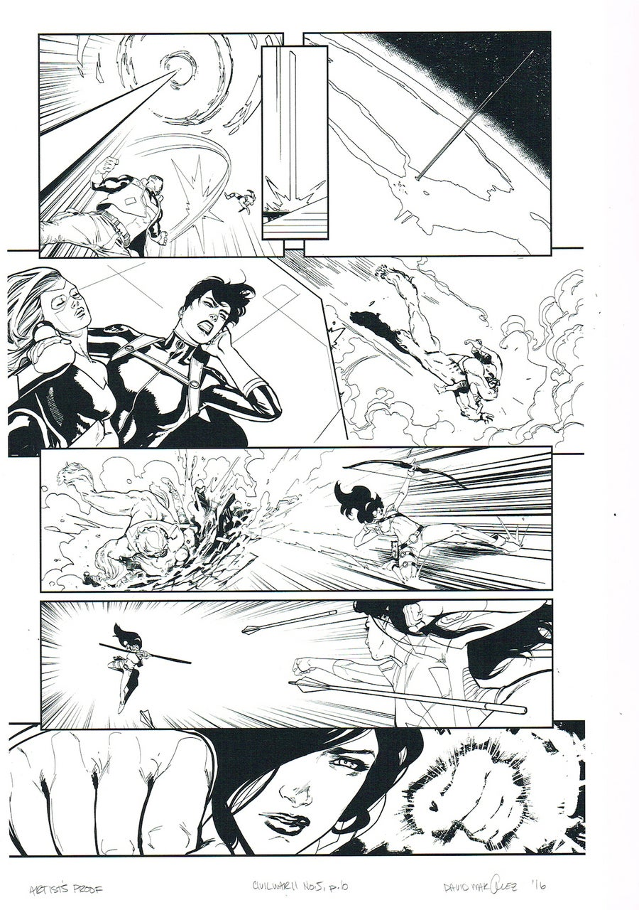 Image of CIVIL WAR II #5, p.10 ARTIST'S PROOF