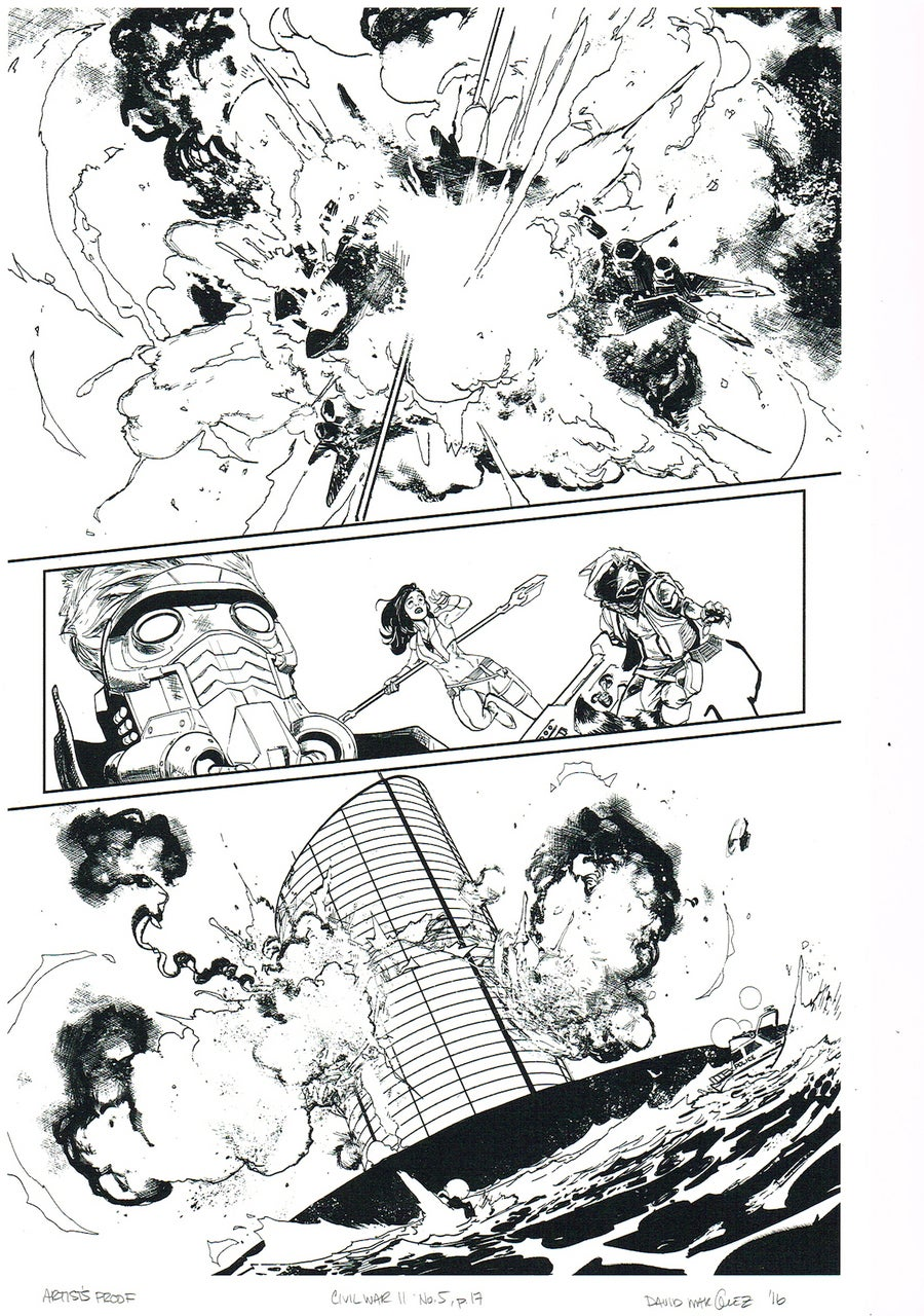 Image of CIVIL WAR II #5, p.17 ARTIST'S PROOF