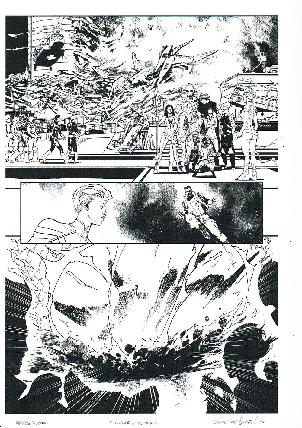 Image of CIVIL WAR II #6, p.16 ARTIST'S PROOF