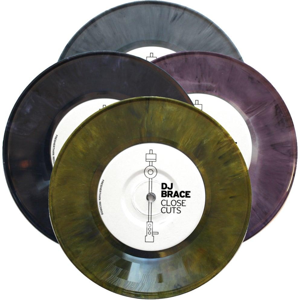 "Image of DJ BRACE - CLOSE CUTS 7"" (assorted limited colors)"