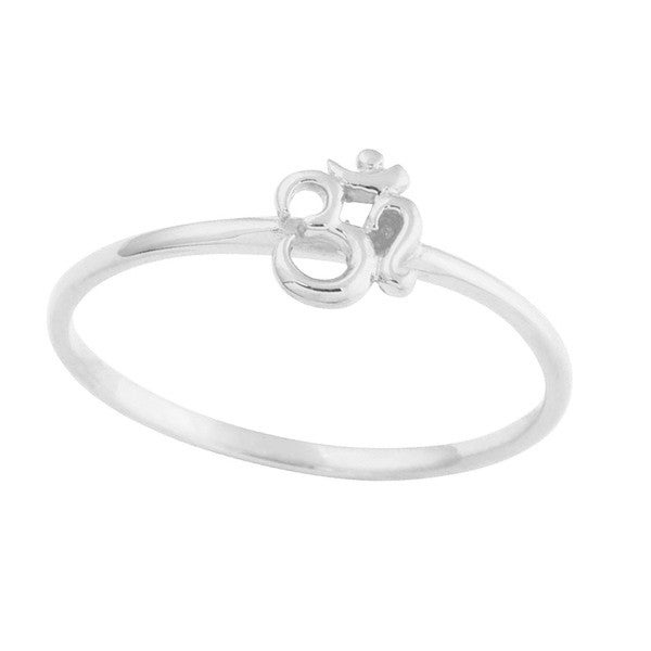 Image of Sterling Silver Om Ring