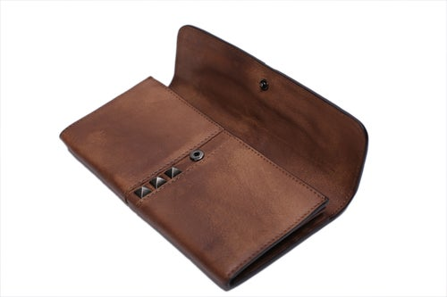 Image of Vintage Style Genuine Natural Leather Wallet, Long Purse, Money Wallet 9057