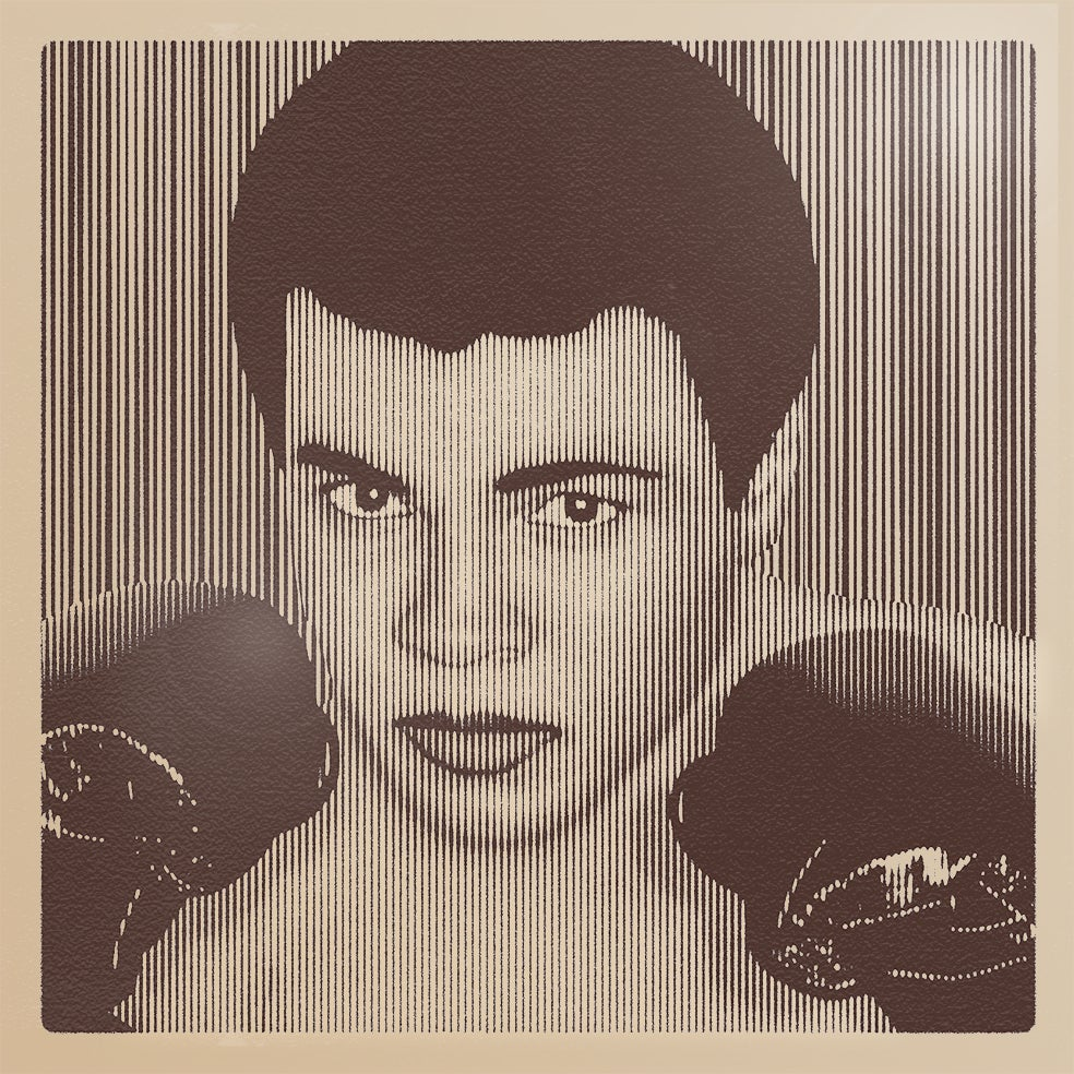 Image of MUHAMMAD ALI.... Parallel Lines MONO  Edition 15 ONLY 3 PRINTS LEFT