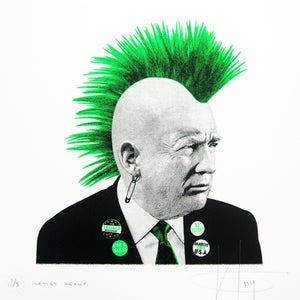 Image of PUNK TRUMP... Vomit GREEN Neon