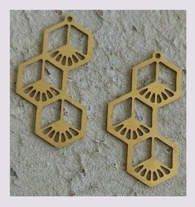 Image of Pendentif: grappe hexagonale