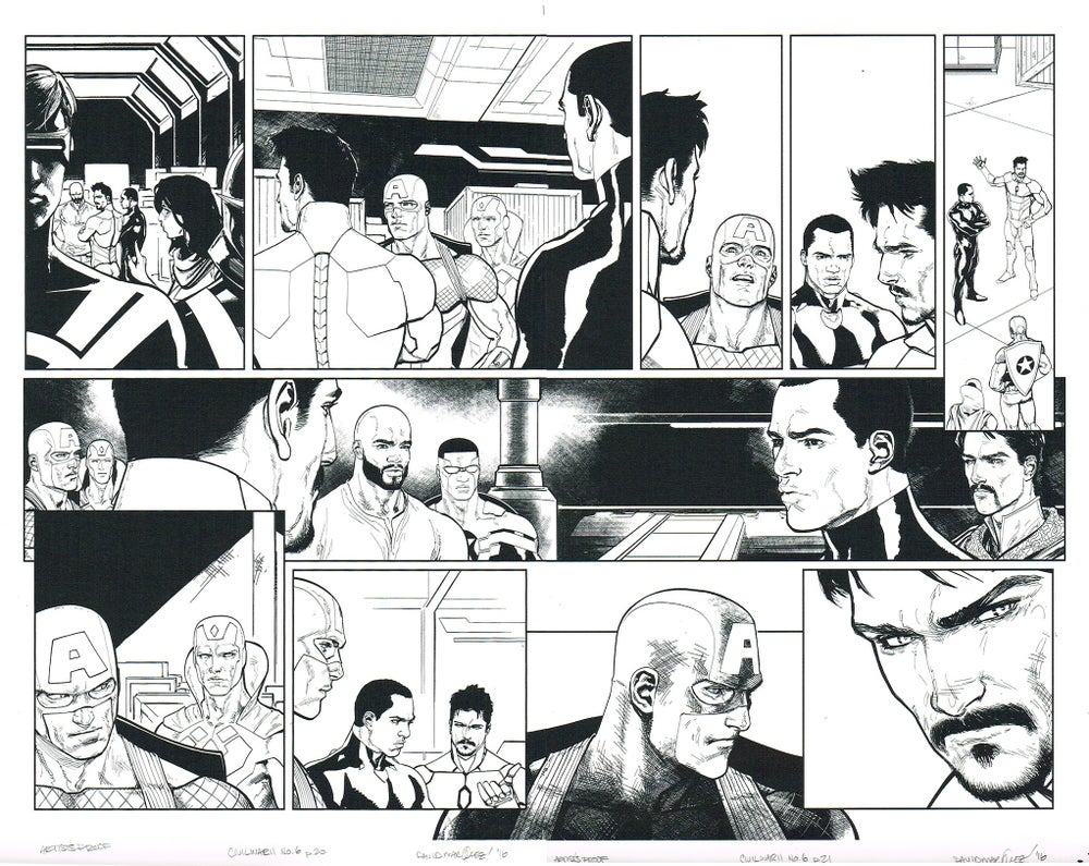 Image of CIVIL WAR II #6, p.20-21 ARTIST'S PROOF