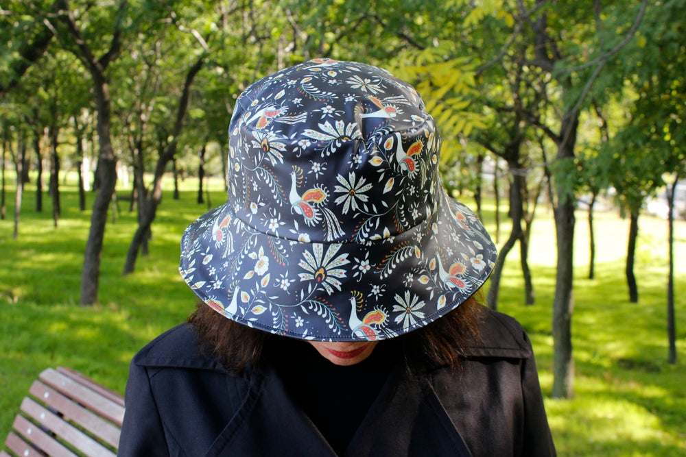 Image of Sombrero impermeable - Pavo real