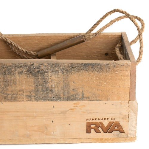 Image of Handmade Growler Crates with Grid Magazine Pallet Wood (Richmond and Charlottesville versions)